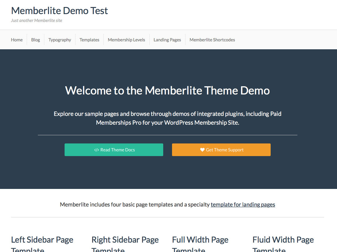 Demo archives memberlite for Wp template redirect